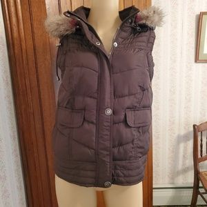 Mossimo Supply Co. puffer vest, hooded, Medium